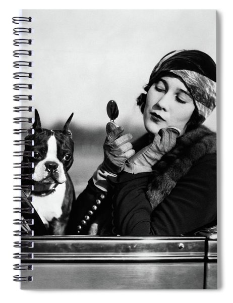 1920s Flapper In Convertible Powdering Spiral Notebook