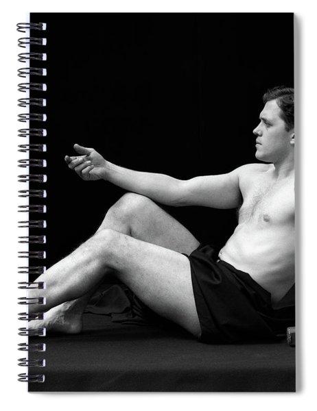 1920s Man Semi Nude Classical Pose Spiral Notebook