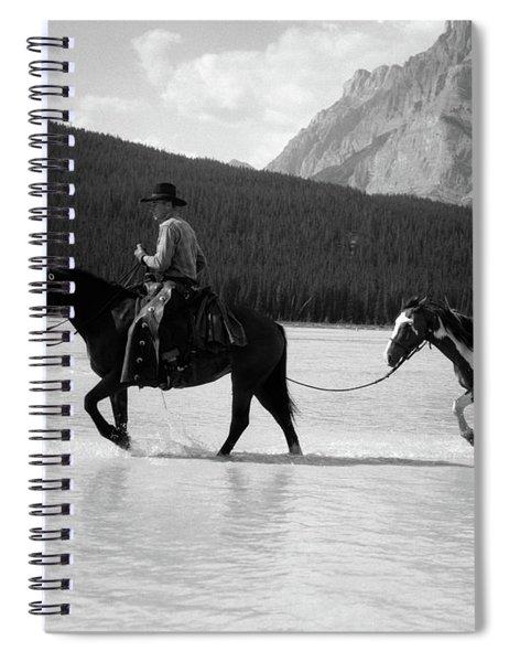 1930s 1940s Cowboy On Horseback Spiral Notebook