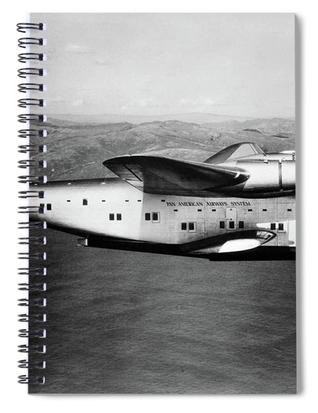 1930s 1940s Pan American Clipper Flying Spiral Notebook by Vintage Images