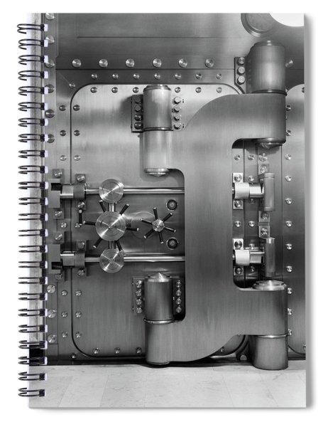 1930s Closed Bank Vault Door Spiral Notebook