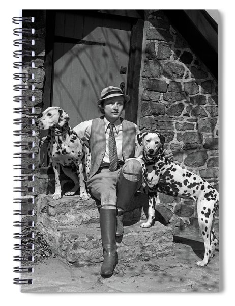 1930s Fashionable Sporty Woman Sitting Spiral Notebook