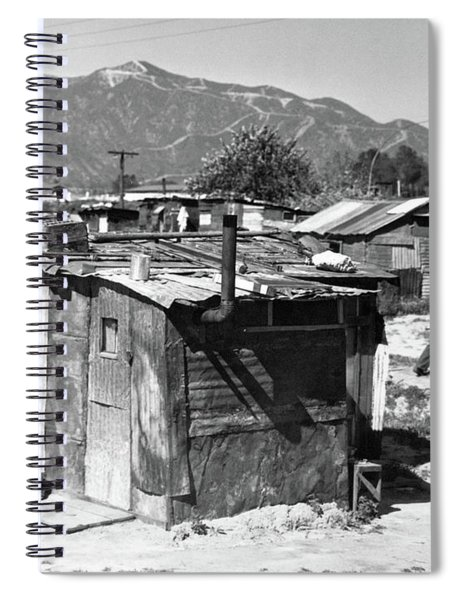 1930s Great Depression Shanty Town Spiral Notebook