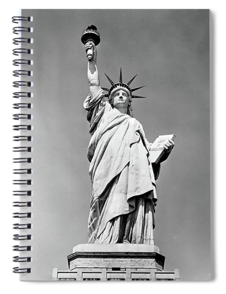 1930s Statue Of Liberty Ny Harbor Ellis Spiral Notebook