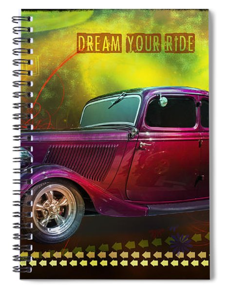 1934 Ford 5 Window Gennie Spiral Notebook