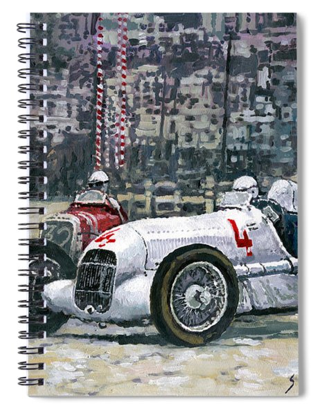 1935 Monaco Gp Mercedes-benz W25 #4 L. Fagioli Winner  Spiral Notebook