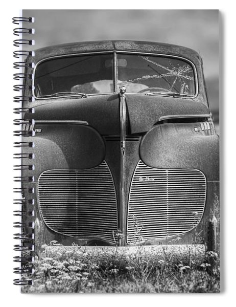 1940 Desoto Deluxe Black And White Spiral Notebook