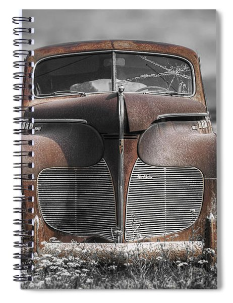 1940 Desoto Deluxe With Spot Color Spiral Notebook