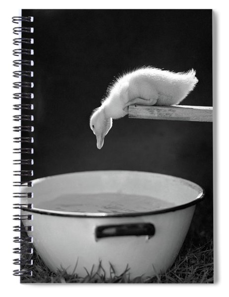 1940s 1950s Young Duck Leaning Spiral Notebook