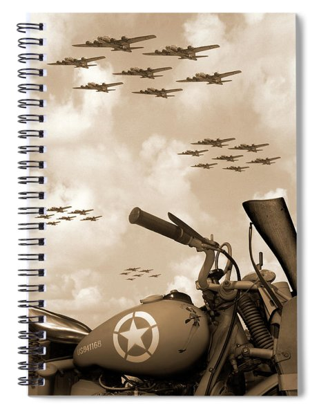 1942 Indian 841 - B-17 Flying Fortress' Spiral Notebook