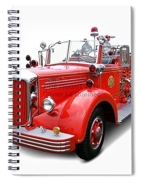 1949 Mack Fire Truck Spiral Notebook