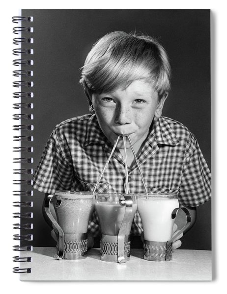 1950s 1960s Portrait Of Blonde Boy Spiral Notebook