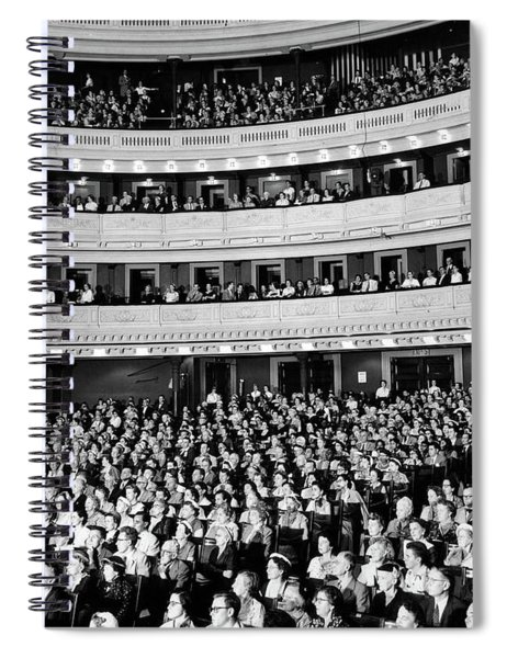 1950s Audience Sitting In Carnegie Hall Spiral Notebook