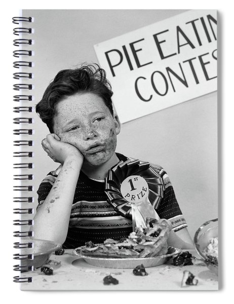 1950s Boy Wins 1st Prize At Pie-eating Spiral Notebook
