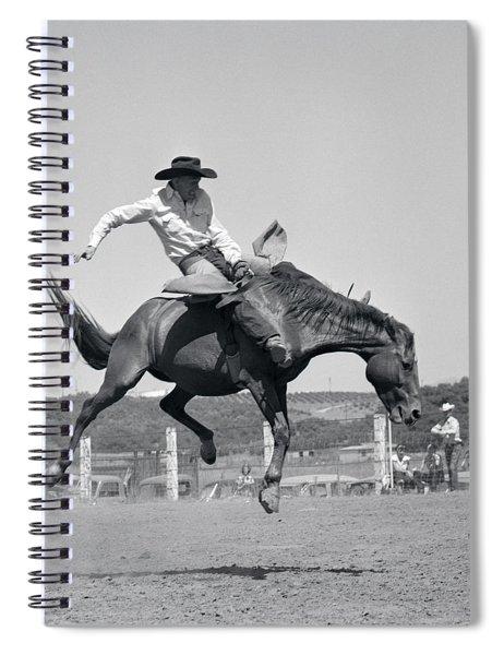 1950s Cowboy Riding A Horse Bareback Spiral Notebook