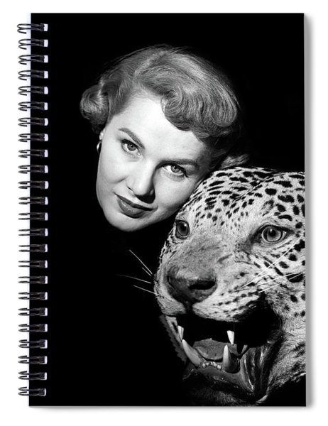 1950s Dramatic Face Shot Woman Looking Spiral Notebook