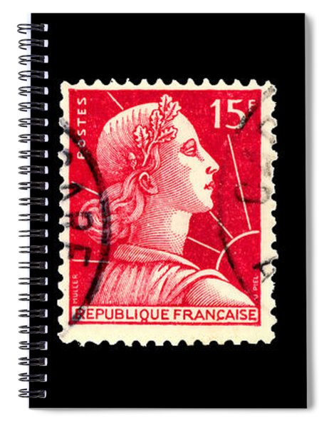 1950s French Postage Triptych Spiral Notebook