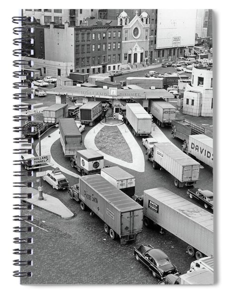 1950s Overhead Of Traffic Congestion Spiral Notebook