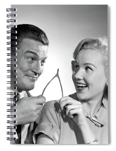 1950s Portrait Of Couple Holding Spiral Notebook