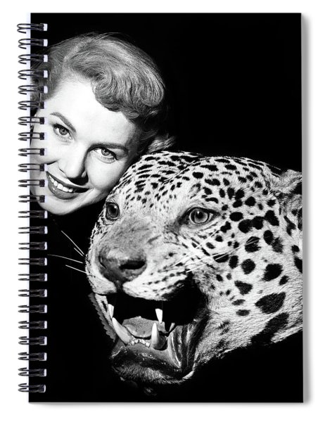 1950s Smiling Woman Face Looking Spiral Notebook