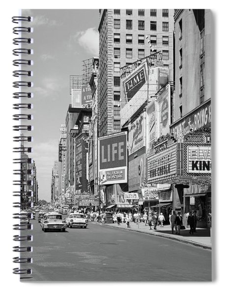 1950s Times Square View North Up 7th Spiral Notebook