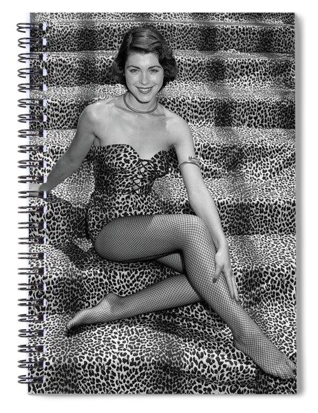 1950s Woman In Leopard Skin Bathing Spiral Notebook