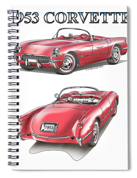 1953 Corvette Spiral Notebook