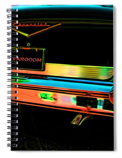 1957 Chevy Art Red Varooom Spiral Notebook