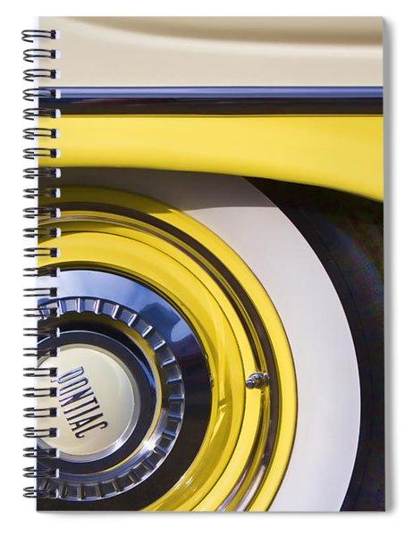 1957 Pontiac Starchief Wheel Cover Spiral Notebook