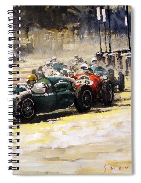 1959 Monaco Gp  #24 Cooper Climax T51 Jack Brabham Winner  Spiral Notebook
