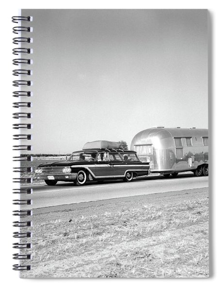 1960s 1970s Family Station Wagon Spiral Notebook