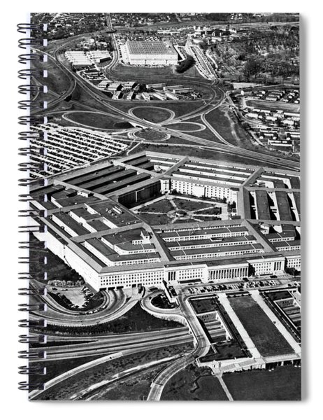 1960s Aerial View Of Army Pentagon Spiral Notebook
