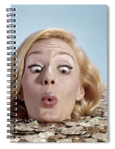 1960s Blond Woman Funny Facial Spiral Notebook
