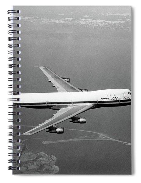 1960s Boeing 747 In Flight Spiral Notebook