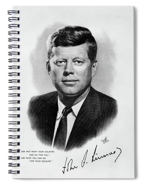 1960s Jfk Official White House Portrait Spiral Notebook