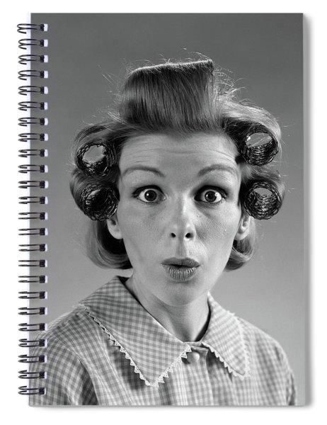 1960s Portrait Woman With Hair Spiral Notebook