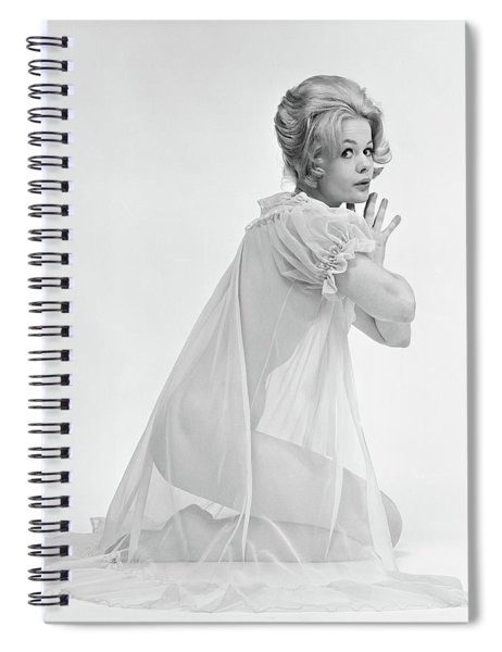 1960s Profile Portrait Of Blond Woman Spiral Notebook