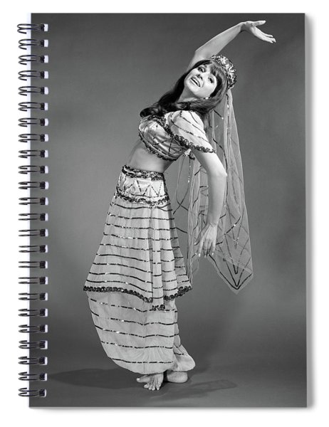1960s Woman In Belly-dancer Costume Spiral Notebook