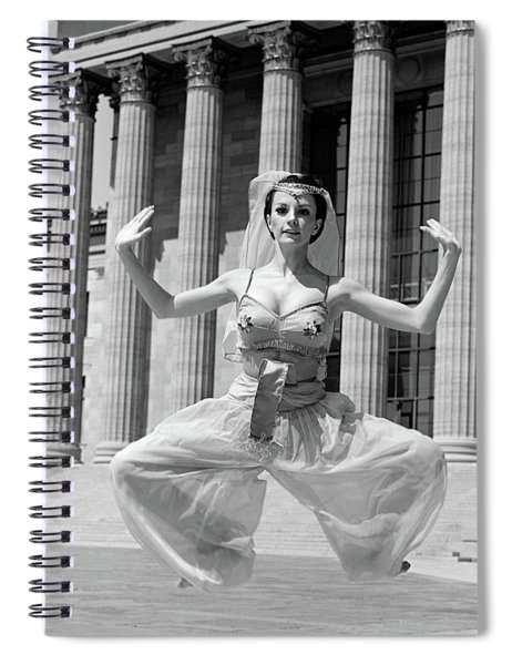 1960s Woman In Middle Eastern Belly Spiral Notebook