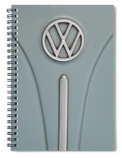 1965 Volkswagen Beetle Hood Emblem Spiral Notebook