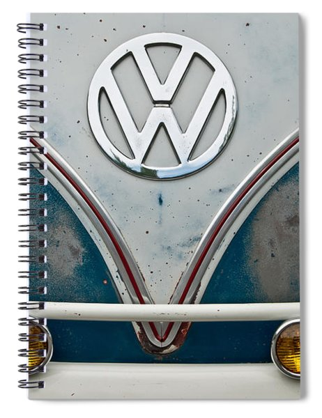 1965 Vw Volkswagen Bus Spiral Notebook