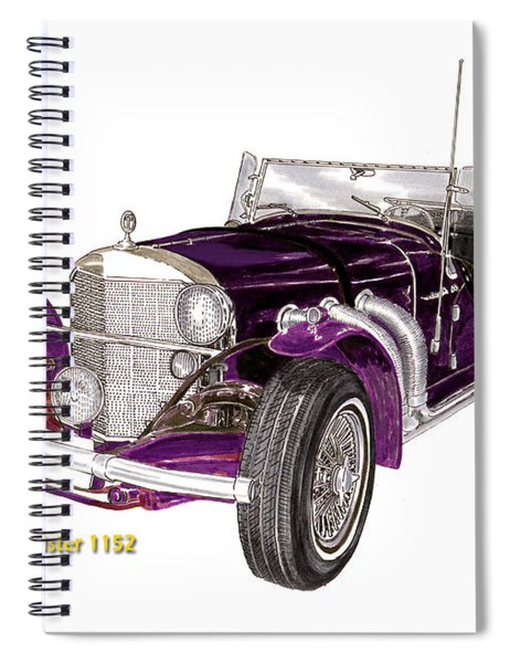 1969 Excalibur Ss Roadster Spiral Notebook