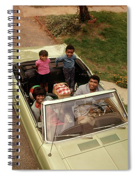 1970s African American Family Of Four Spiral Notebook