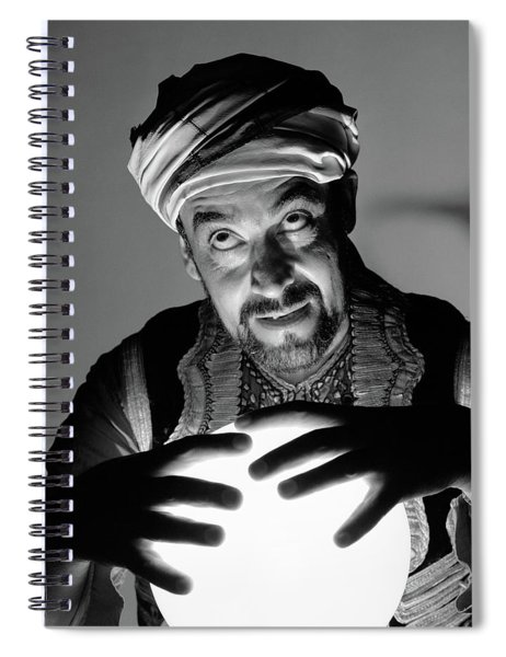 1970s Scary Fortune Teller Man Spiral Notebook