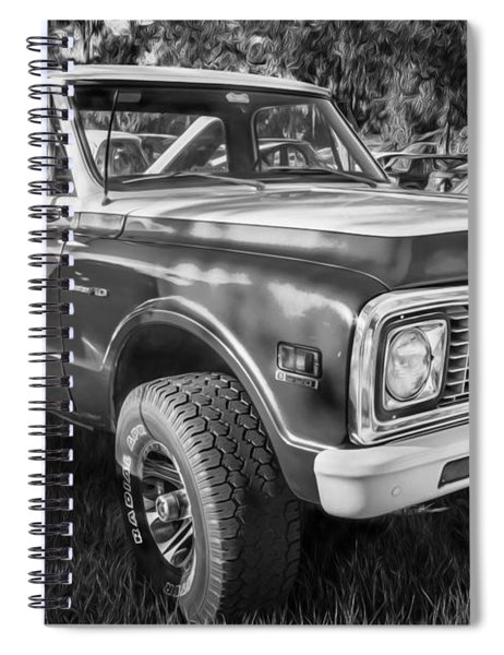 1972 Chevy Pickup Custom 10 C10 Painted Bw   Spiral Notebook