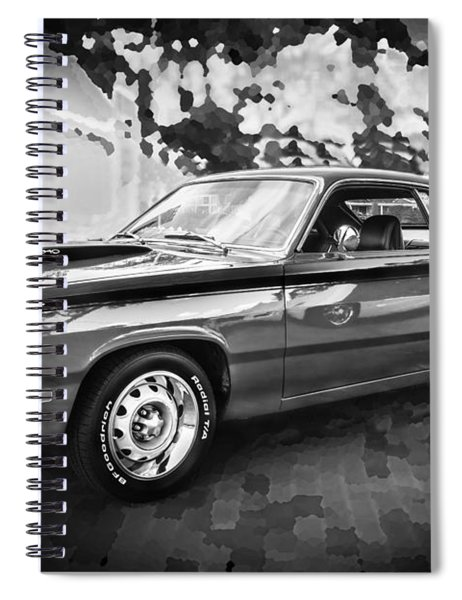 1972 Plymouth 340 Duster Bw Spiral Notebook