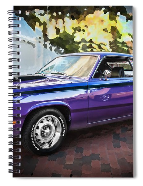 1972 Plymouth 340 Duster  Spiral Notebook