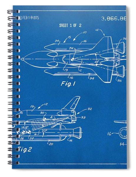 1975 Space Shuttle Patent - Blueprint Spiral Notebook