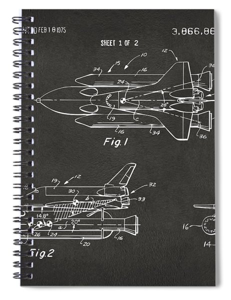 1975 Space Shuttle Patent - Gray Spiral Notebook