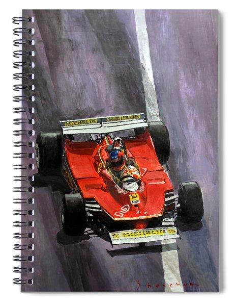 1980 Monaco Gp Gilles Villeneuve Ferrari 312 T5  Spiral Notebook